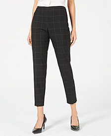 Elie Tahari Marcia Printed Tapered Pants