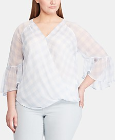 Lauren Ralph Lauren Plus Size Georgette Top