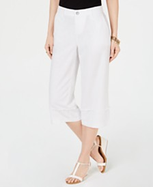 Style & Co Petite Cropped Wide-Leg Pants, Created for Macy's