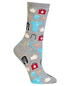 Women's Doctor Fashion Crew Socks