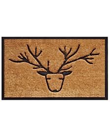 """Deer 18"""" x 30"""" Coir/Rubber Doormat"""
