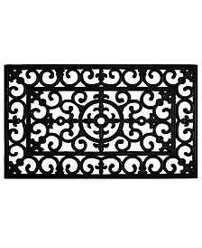 Home & More Fleur De Lis Rubber Doormat Collection