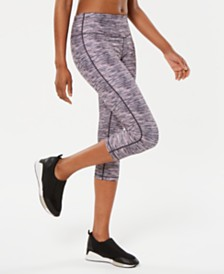Ideology Space-Dyed Cropped Leggings, Created for Macy's