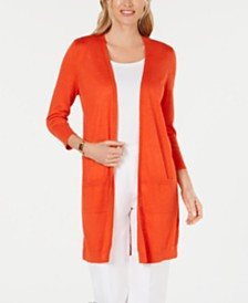 Kasper Patch-Pocket Duster Cardigan