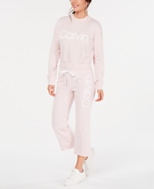 Calvin Klein Performance Logo Sweatshirt & Cropped Pants