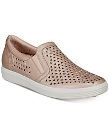 Ecco Women's Soft 7 Laser-Cut Slip-On Sneakers