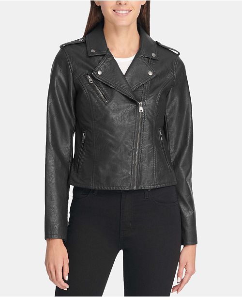 3905df2c077 Levi s Faux-Leather Moto Jacket   Reviews - Jackets   Blazers ...