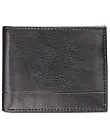 Club Room Men's Faux-Leather Wallet, Created for Macy's