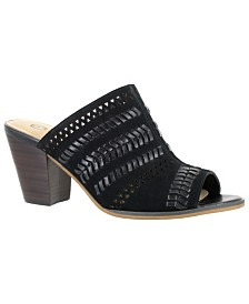 Bella Vita Koraline Block Heel Slide Sandals