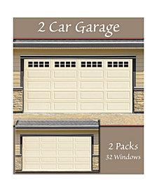 Household Essentials Garage Window Magnets, Garage Accents 32 Pack