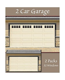 Household Essentials Garage Window Magnets, Garage Accents 32 Pack