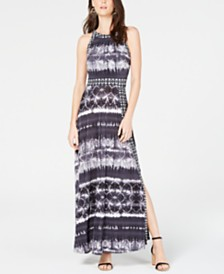 I.N.C. Petite Tie Dye Maxi Dress, Created for Macy's