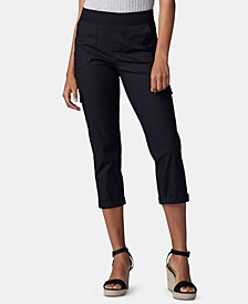 Petite Pull-On Cargo Capri Pants