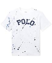 5711023ef47d Polo Ralph Lauren Big Boys Paint-Splatter Cotton T-Shirt