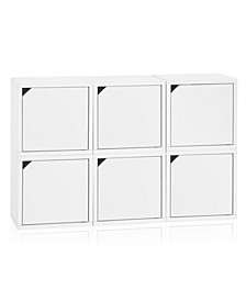 Eco Stackable Connect 6 Cube Storage with Doors