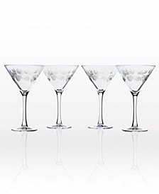 Icy Pine Martini 10Oz - Set Of 4 Glasses
