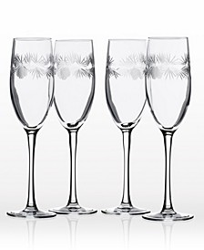 Icy Pine Flute 8Oz - Set Of 4 Glasses