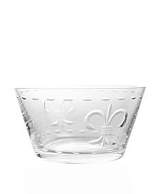 Fleur De Lis Clear Small Bowl 6 Inch - Set Of 4 Bowls