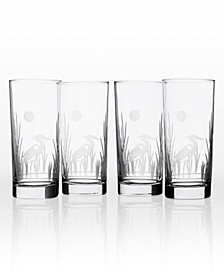 Heron Cooler Highball 15Oz - Set Of 4 Glasses