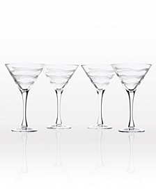 Good Vibrations Martini 10Oz - Set Of 4 Glasses