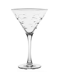 School Of Fish Martini 10Oz - Set Of 4 Glasses