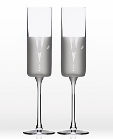 Rolf Glass Wedding Cheers Series 2 (Tux/Tux) Flute 5.75Oz - Gift Box Set Of 2