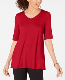 Alfani V-Neck Swing Tunic, Created for Macy's