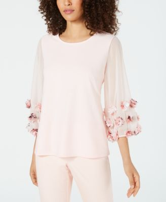 Floral-Appliqué Top, Created for Macy's