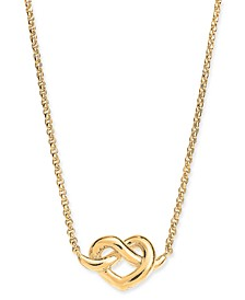 "Heart Knot Collar Necklace, 16"" + 3"" extender"