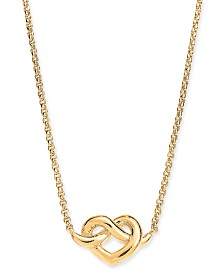 "Kate Spade New York  Heart Knot Collar Necklace, 16"" + 3"" extender"