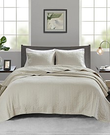 Madison Park Keaton 3-Pc. Reversible Quilted Full/Queen Coverlet Set