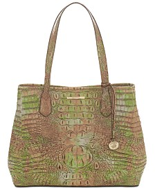 Brahmin Julian Atlas Melbourne Embossed Leather Tote