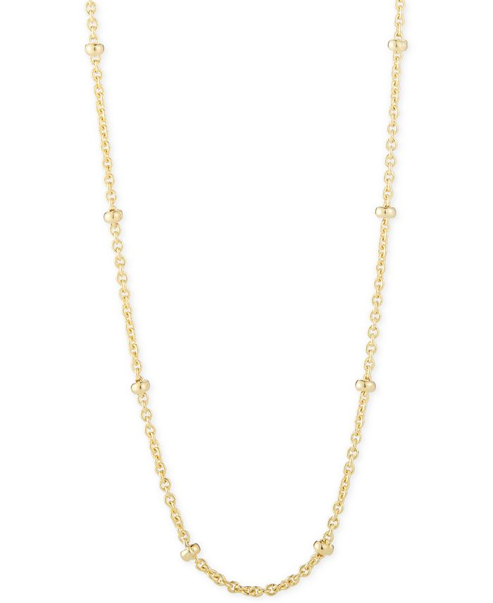 """CHARMBAR - ™ Beaded Link Chain Necklace, Adjustable 16"""" - 20"""""""