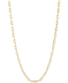 "CHARMBAR™ Link Chain Necklace, Adjustable 16"" - 20"""
