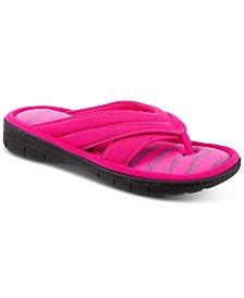 Isotoner Women's Satin Jackie Thong Slippers, Online Only