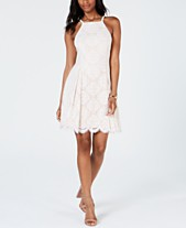 b75b1b3b2e44 Vince Camuto Petite Lace Fit   Flare Dress