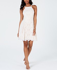 Vince Camuto Petite Lace Fit & Flare Dress