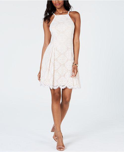 4d5d4f76e0ac Vince Camuto Petite Lace Fit & Flare Dress & Reviews - Dresses ...