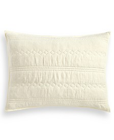Lucky Brand Crinkle Gauze Cotton Standard Sham, Created for Macy's