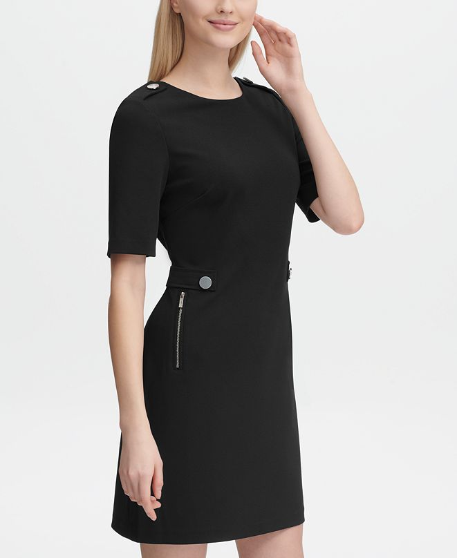 Calvin Klein Zip-Pocket Sheath Dress