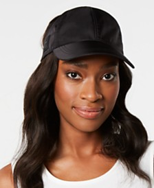 DKNY Stretch-Band Ponytail Hat