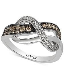 Le Vian Chocolatier® Diamond Accent Ring (1/3 ct. t.w.) in 14k White Gold