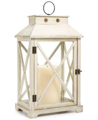 "La Dolce Vita 22"" Wooden Lantern, Created for Macy's"