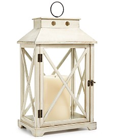 "Martha Stewart Collection La Dolce Vita 22"" Wooden Lantern, Created for Macy's"