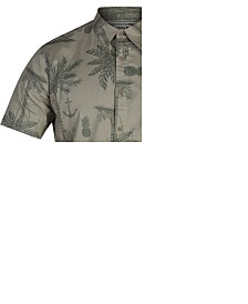 Hurley Men's Palm Tree Graphic Shirt