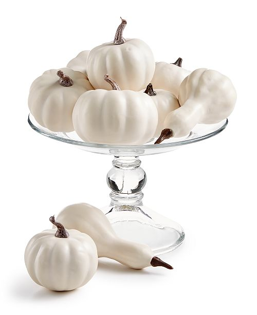 Martha Stewart Collection La Dolce Vita White Artificial Gourds, 9-Pc. Set, Created for Macy's