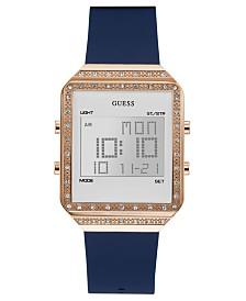 GUESS Women's Digital Mini Flare Blue Silicone Strap Watch 35x47.5mm