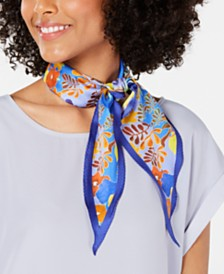 Echo Lemon Twist Printed Silk Diamond Scarf