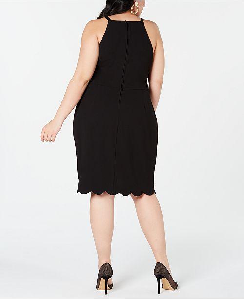 6535721e Emerald Sundae Plus Size Scalloped Sheath Dress & Reviews - Trendy ...