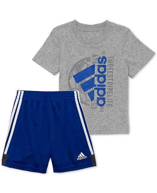 adidas Toddler Boys 2-Pc. Logo Graphic T-Shirt & Shorts Set